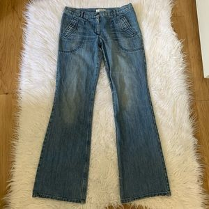 Habitual flare patch pocket jeans